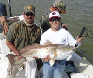 Noah and his first Bull redfish